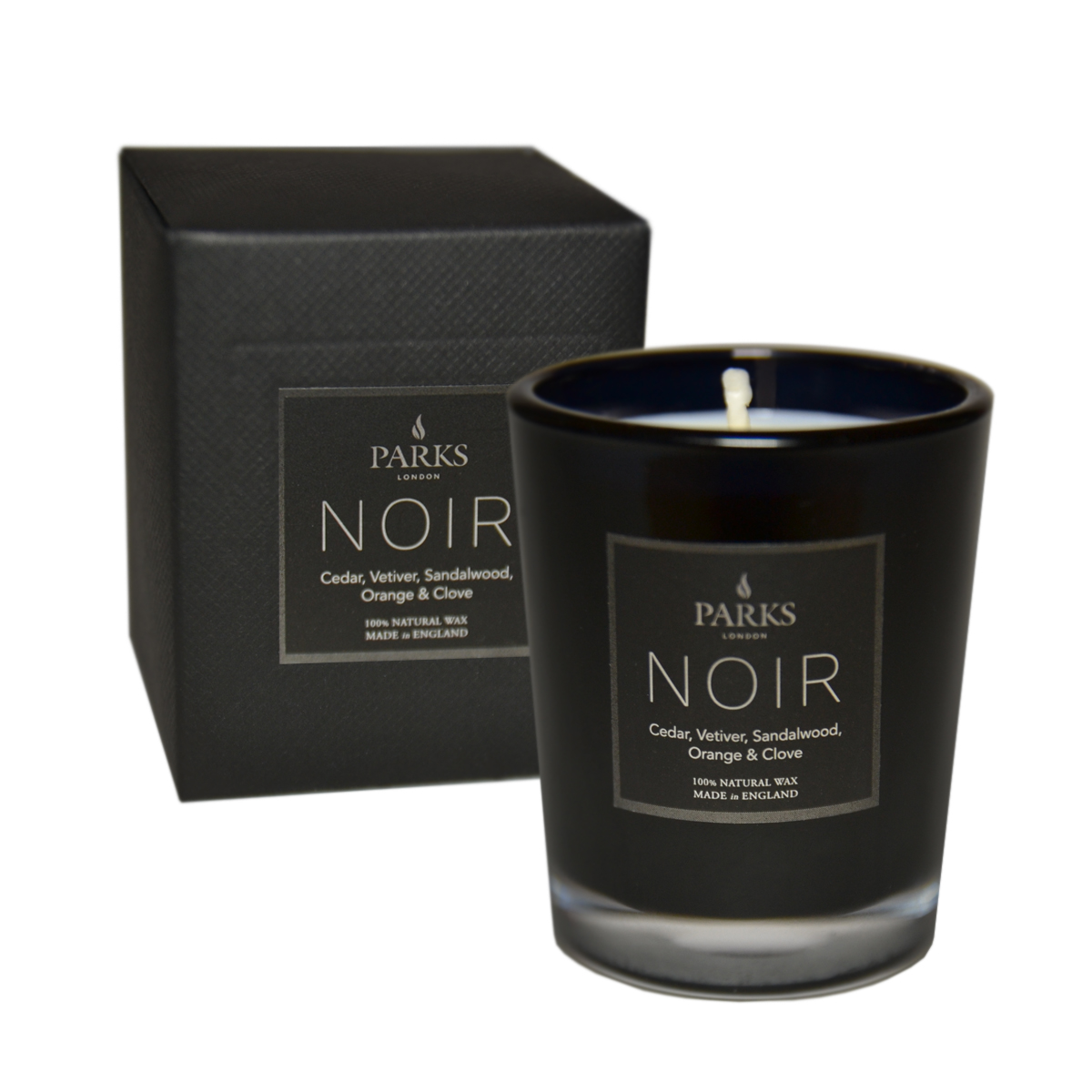 Noir Cedar, Vetiver, Sandalwood, Orange & Clove Small 1 Wick